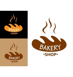 Bakery food symbol with bread vector image