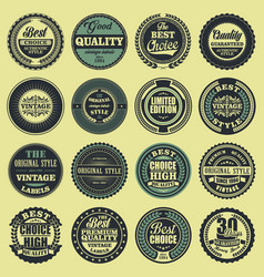 best choice good quality vintage labels set vector image