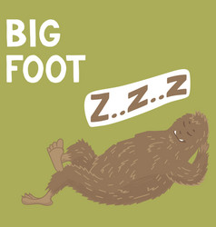 Bigfoot creature cute big monster design vector