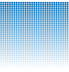 blue graphic pattern design with white round dots vector image