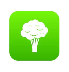 broccoli icon digital green vector image