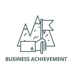 business achievement line icon business vector image