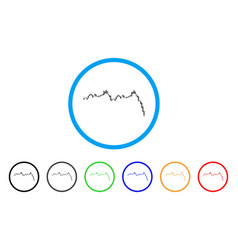candlestick graph falling acceleration rounded vector image
