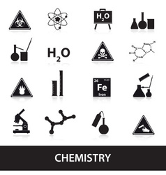 chemistry icons set eps10 vector image