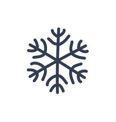 chsnowflake icon black silhouette snow flake sign vector image