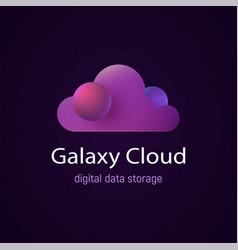 cloud ui ux future design data storage vector image