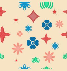 color flower pattern background seamless vector image