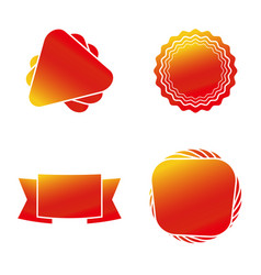 colorful shapes banner icon set eps10 vector image