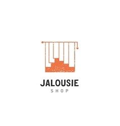 Creative development jalousie shop logo vector image