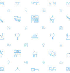 Culture icons pattern seamless white background vector