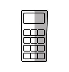 Dataphone credit payment shadow vector