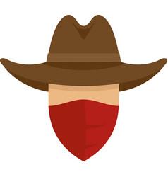 Desert cowboy icon flat isolated vector