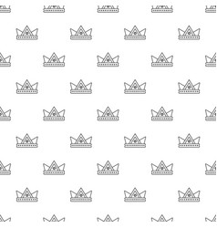 Diamond crown pattern seamless vector