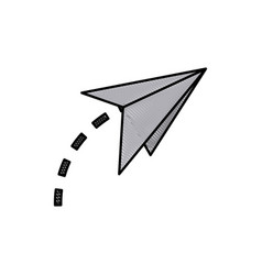 Drawing paper airplane origami creativity symbolic vector