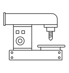 drilling machine icon outline style vector image