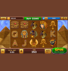 egyptian background for slots game vector image