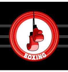 Emblem boxing vector