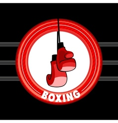 Emblem of boxing vector