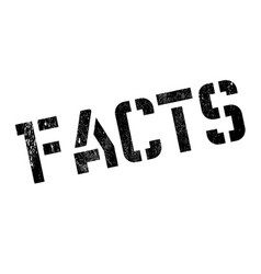 Facts rubber stamp vector