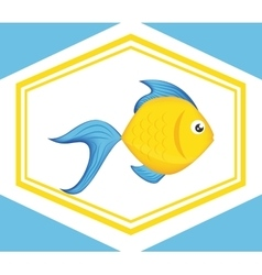 Fish icons design vector