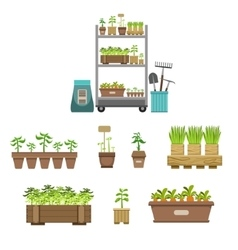 Gardening Related Objects Collection vector