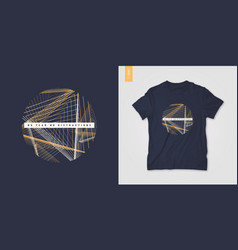 geometric mens t-shirt design graphic print vector image