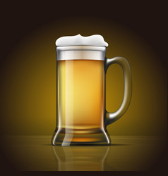 glass of beer with foam vector image