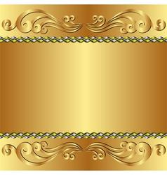 Golden backgroun vector
