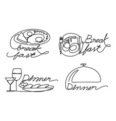 graphic food vector image