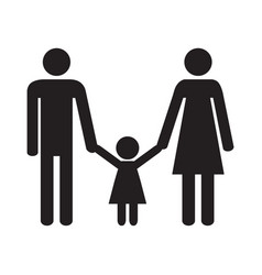 happy family parents and daughter vector image
