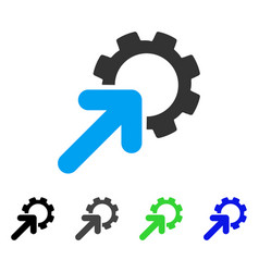 Integration cog flat icon vector
