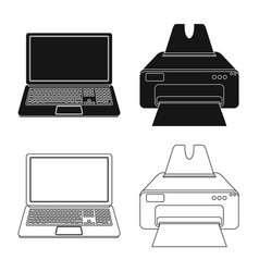Laptop and device icon vector