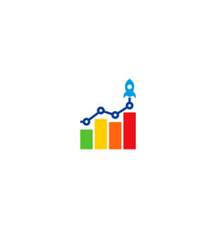 launch statistic logo icon design vector image