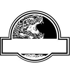 Logo cobra head - color design vector