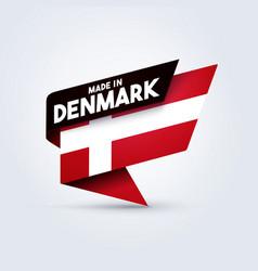 made in denmark flag vector image