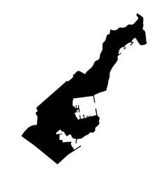 Map monaco isolated black on vector