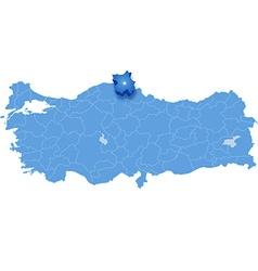 Map of Turkey Sinop vector