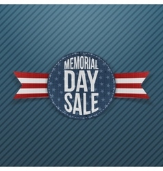 Memorial Day Sale textile Sign and Ribbon vector image