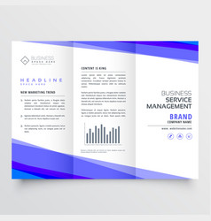 modern trifold leaflet design with business vector image