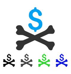 Mortal debt flat icon vector