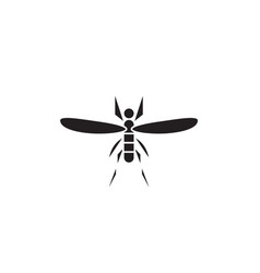 mosquito black concept icon mosquito flat vector image