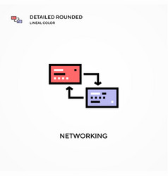 Networking icon modern vector