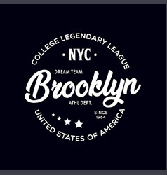 New york city brooklyn theme t-shirt graphics vector