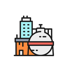 oil factory chemical plant industrial vector image