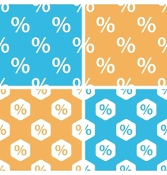 Percent pattern set colored vector