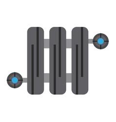 radiator heating icon image vector image