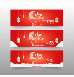 ramadan kareem advertising 6 different sale banner vector image