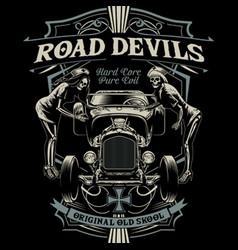 Road devil vector