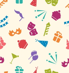 Seamless Pattern of Party Objects Wallpaper for vector image