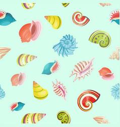 Seashells seamless pattern vector
